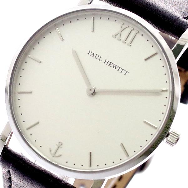 ポールヒューイット PAUL HEWITT 腕時計 メンズ レディース PH-SA-S-SM-W-2S 6451110 ミスオーシャンライン Miss Ocean Line クォーツ ホワイト ブラック ホワイト【送料無料】
