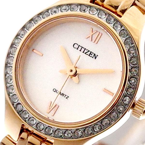 シチズン CITIZEN 腕時計 レディース EJ6143-59A クォーツ ホワイト ピンクゴールド ピンクゴールド【送料無料】
