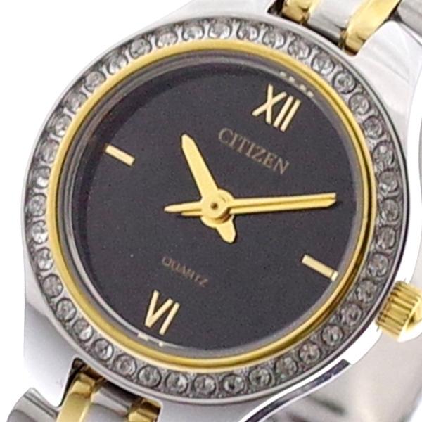 シチズン CITIZEN 腕時計 レディース EJ6144-56E クォーツ ブラック シルバー ブラック【送料無料】