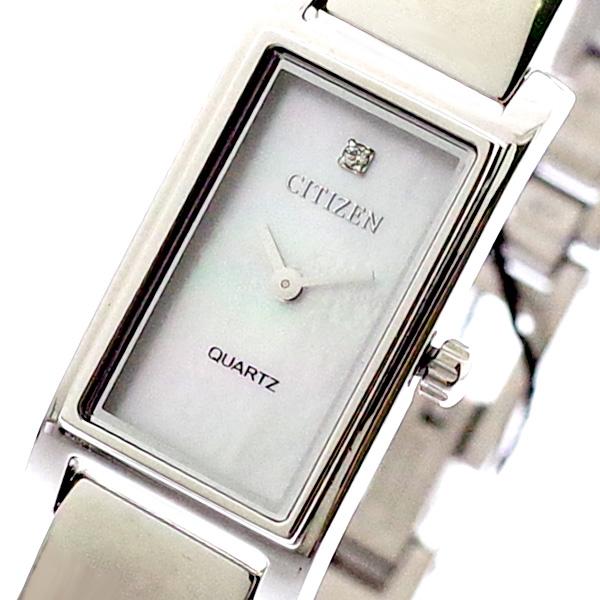 シチズン CITIZEN 腕時計 レディース EZ6360-50D クォーツ ホワイトシェル シルバー
