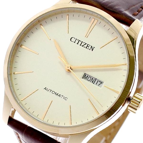 シチズン CITIZEN 腕時計 メンズ NH8353-18A 自動巻き オフホワイト ブラウン オフホワイト【送料無料】