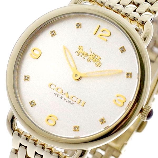 コーチ COACH 腕時計 レディース 14502786 デランシースリム クォーツ シルバー ゴールド ゴールド【送料無料】