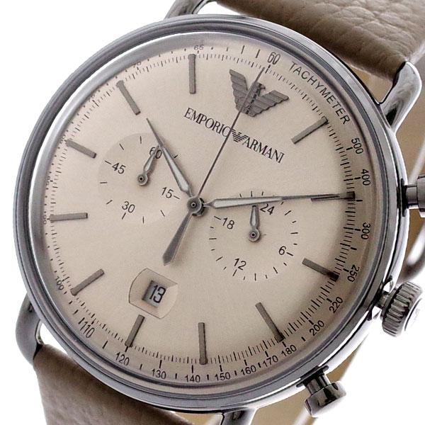 エンポリオアルマーニ EMPORIO ARMANI 腕時計 メンズ AR11107 AVIATOR クォーツ グレージュ グレージュ【送料無料】