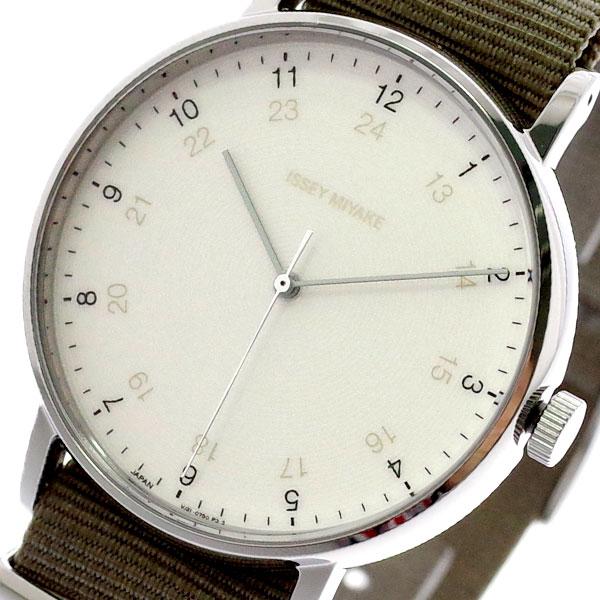 イッセイミヤケ ISSEY MIYAKE 腕時計 メンズ NYAJ003 F エフ クォーツ ホワイト カーキ カーキ【送料無料】