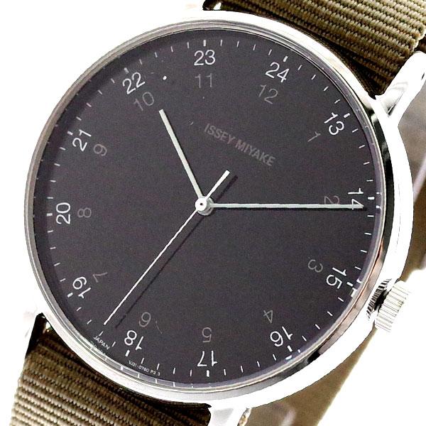 イッセイミヤケ ISSEY MIYAKE 腕時計 メンズ NYAJ004 F エフ クォーツ ブラック カーキ カーキ【送料無料】