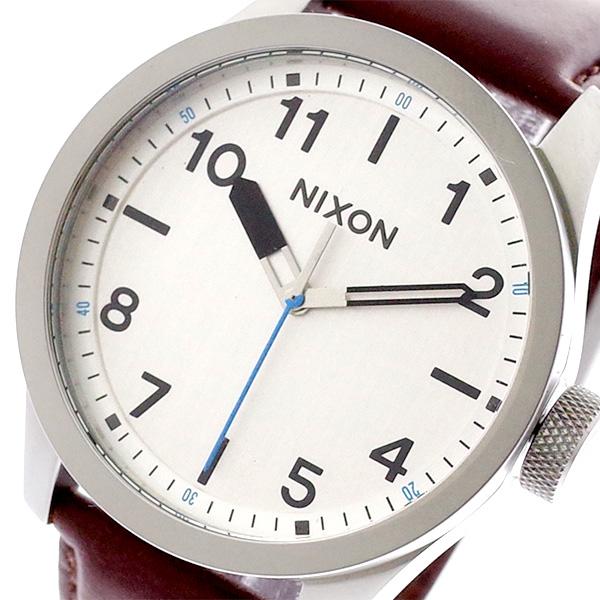 ニクソン NIXON 腕時計 メンズ A9751113 クォーツ シルバー ブラウン ブラウン【送料無料】