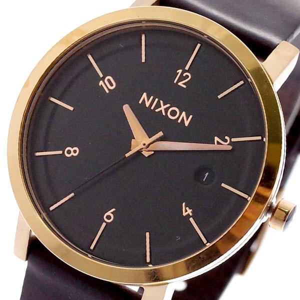 ニクソン NIXON 腕時計 メンズ レディース A9841098 クォーツ ブラック ブラウン ブラウン【送料無料】