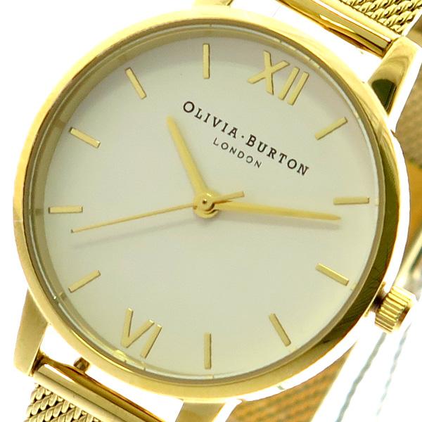 オリビアバートン OLIVIA BURTON 腕時計 レディース OB16MDW35 クォーツ ホワイト ゴールド ゴールド【送料無料】