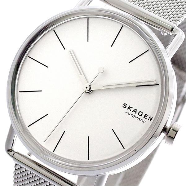 スカーゲン SKAGEN 腕時計 メンズ SKW6399 FALSTER 自動巻き ホワイト シルバー シルバー【送料無料】