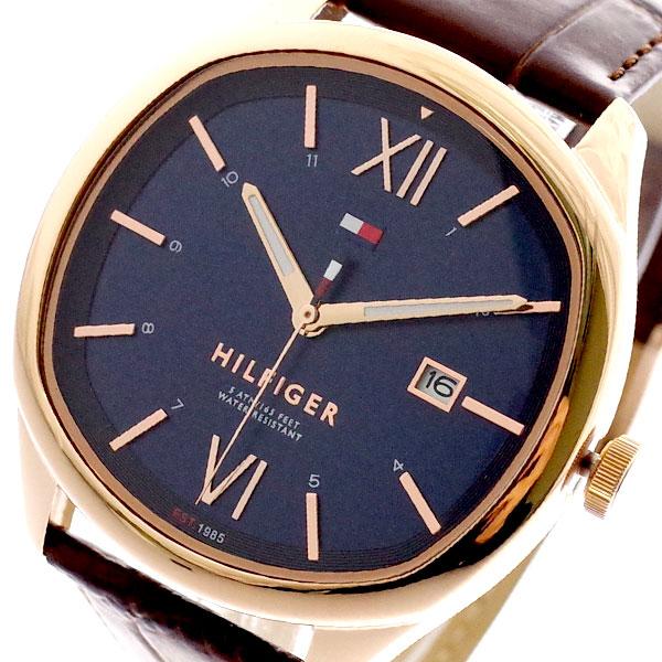 トミーヒルフィガー TOMMY HILFIGER 腕時計 メンズ 1710366 クォーツ ネイビー ブラウン ネイビー【送料無料】