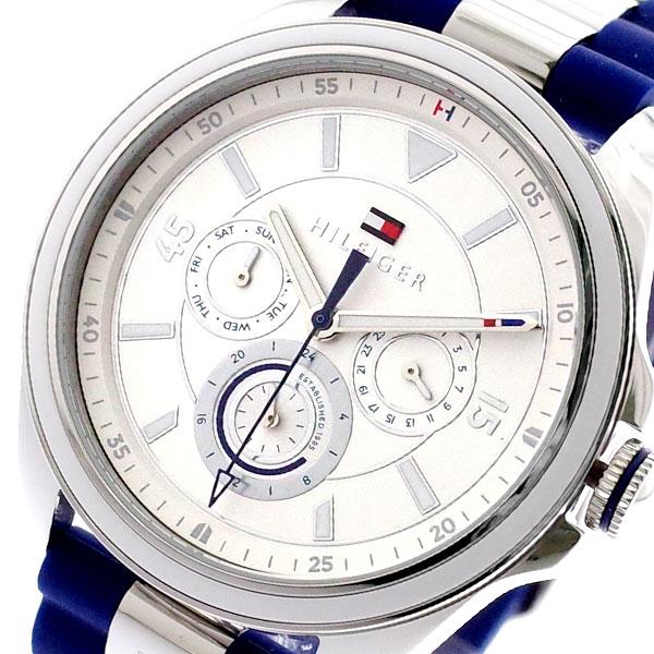 トミーヒルフィガー TOMMY HILFIGER 腕時計 メンズ レディース 1781771 クォーツ シルバー ネイビー ネイビー【送料無料】