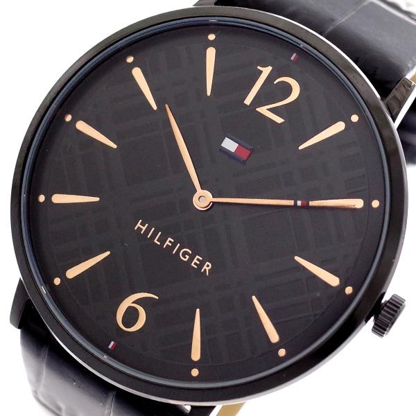 トミーヒルフィガー TOMMY HILFIGER 腕時計 メンズ レディース 1781842 クォーツ ブラック ブラック【送料無料】
