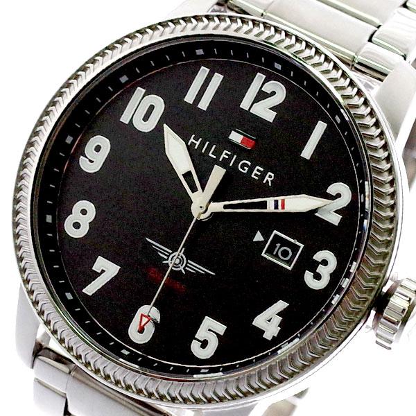トミーヒルフィガー TOMMY HILFIGER 腕時計 メンズ 1791312 クォーツ ブラック シルバー ブラック【送料無料】