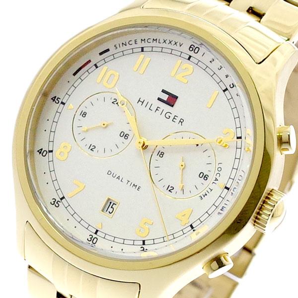 トミーヒルフィガー TOMMY HILFIGER 腕時計 メンズ 1791390 クォーツ ホワイト ゴールド ホワイト【送料無料】