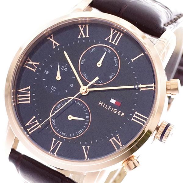 トミーヒルフィガー TOMMY HILFIGER 腕時計 メンズ 1791399 クォーツ ネイビー ダークブラウン【送料無料】