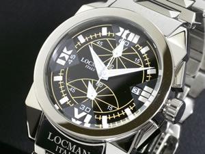 LOCMAN ロックマン 腕時計 ミディアム 161 CR 黒-白【送料無料】【ポイント10倍】
