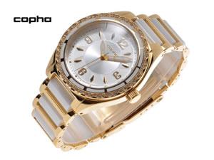 COPHA コプハ 腕時計 BEEBOP ホワイト-ゴールド×ゴールド【送料無料】【ポイント10倍】