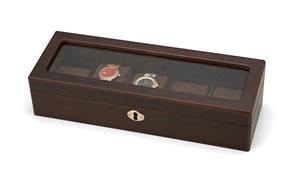 Wooden Watch Case 木製ウォッチケース(5本用) 856-120