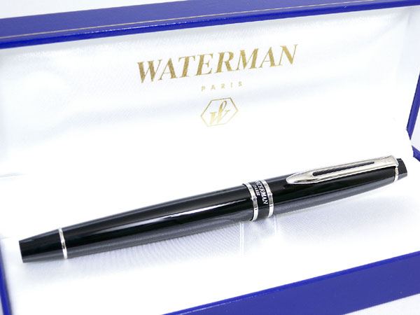 WATERMAN ウォーターマン エキスパート 万年筆 ブラックCT M(中字)