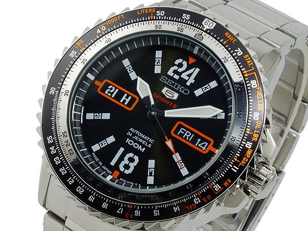 セイコー ファイブ SEIKO 5 スポーツ 自動巻き 腕時計 時計 SRP347J1【ポイント10倍】