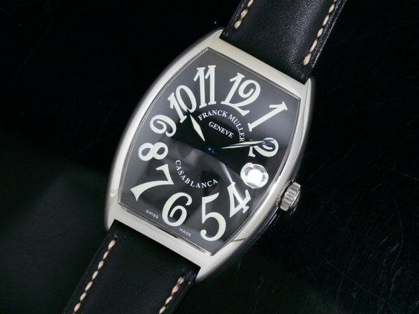 フランクミュラー FRANCK MULLER カサブランカ 腕時計 6850 レザーブラック×ブラック【送料無料】【ポイント10倍】