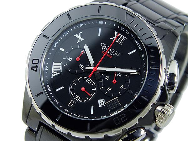 コグ COGU クロノグラフ メンズ 腕時計 時計 CRM2-BBK