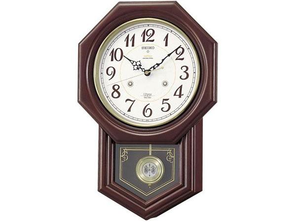 セイコー SEIKO 報時 電波時計 掛け時計 RQ205BH2【inte_D1806】