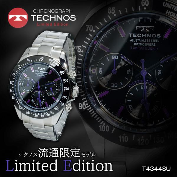 テクノス TECHNOS クオーツ メンズ クロノ 腕時計 時計 T4344SU