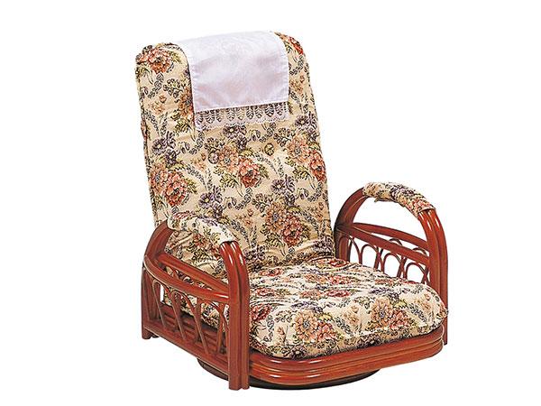 ラタンチェア RATTAN CHAIR ギア回転座椅子 RZ-921 【代引不可】