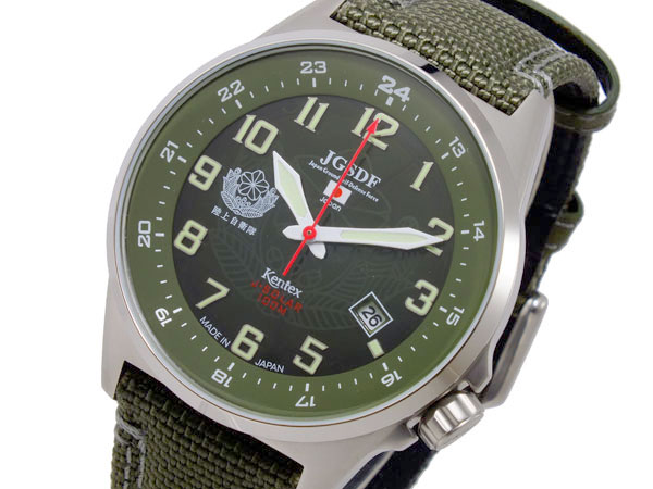 ケンテックス KENTEX JFDFソーラースタンダード メンズ 腕時計 時計 S715M-01 グリーン