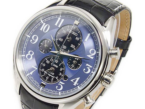 セイコー SEIKO ソーラー メンズ クロノ 腕時計 時計 SSC209【ポイント10倍】