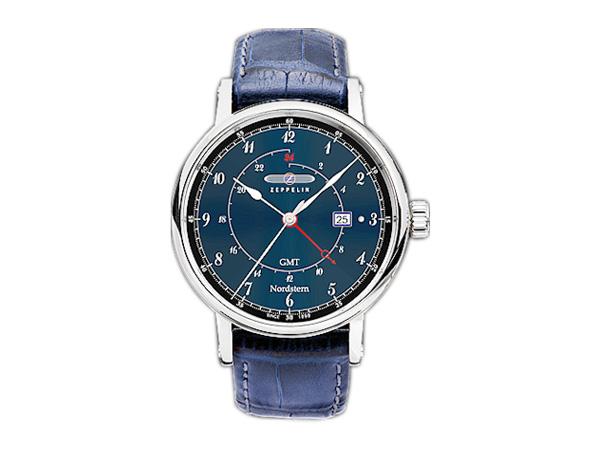 ツェッペリン ZEPPELIN ノルドスタン クォーツ メンズ 腕時計 時計 7546-3 ネイビー