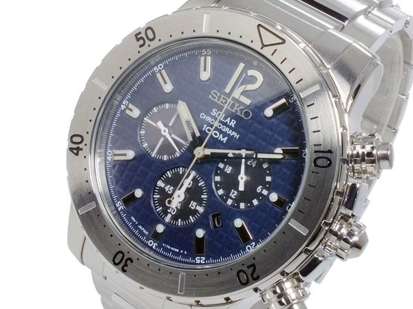 セイコー SEIKO ソーラー メンズ クロノグラフ 腕時計 時計 SSC221P1