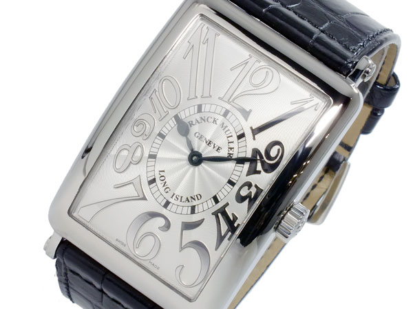 フランクミュラー FRANCK MULLER ロングアイランド クオーツ メンズ 腕時計 1002-QZ-REL-SLV-BLK (き)【送料無料】【ポイント10倍】