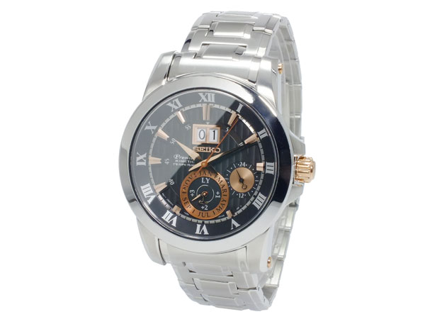 セイコー SEIKO プルミエ Premier キネティック メンズ パーぺチュアル 腕時計 SNP098P1【ポイント10倍】