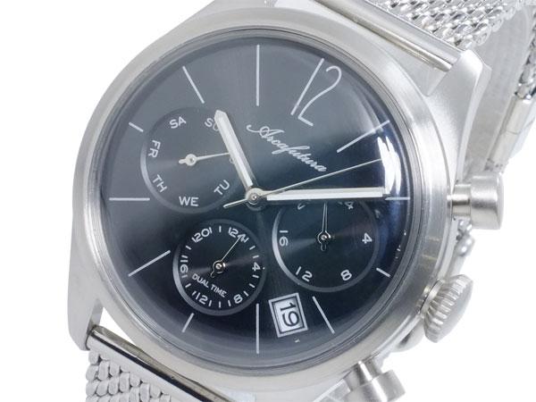 アルカ フトゥーラ ARCA FUTURA クオーツ メンズ デュアルタイム 腕時計 時計 866BK-M