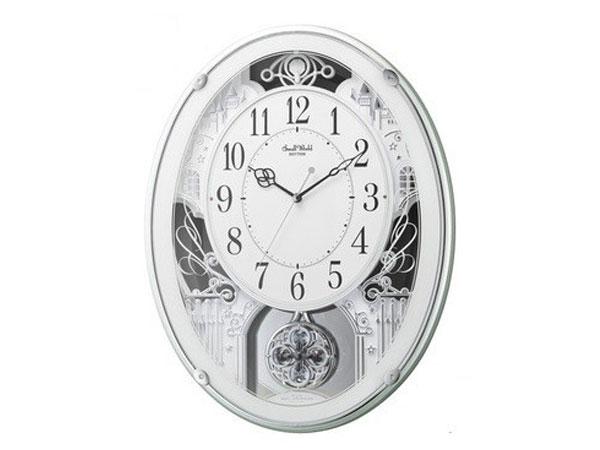 シチズン CITIZEN リズム時計製 メロディ電波掛け時計 4MN523RH05