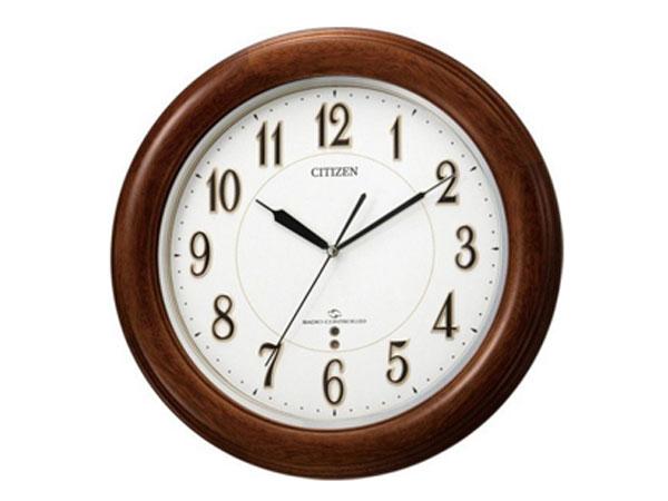 シチズン CITIZEN 電波掛け時計 スリーウェイブM824F 4MY824-N06