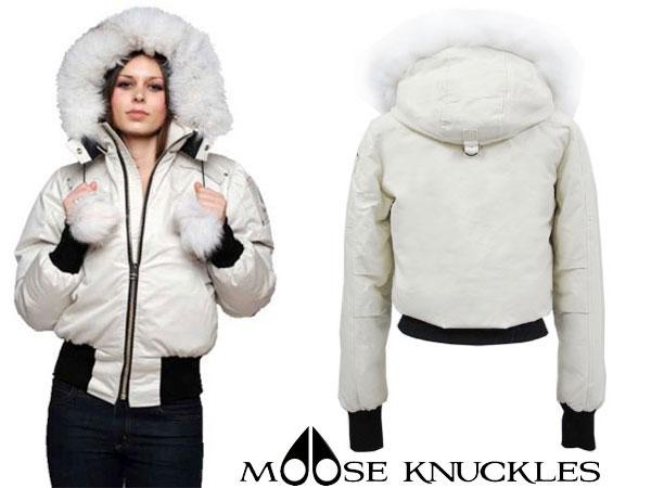 1a7e0423c MOOSE KNUCKLES mousse knuckle down jacket Lady's DEBBIE BOMBER MK2002LB  cream S (medium size equivalency)