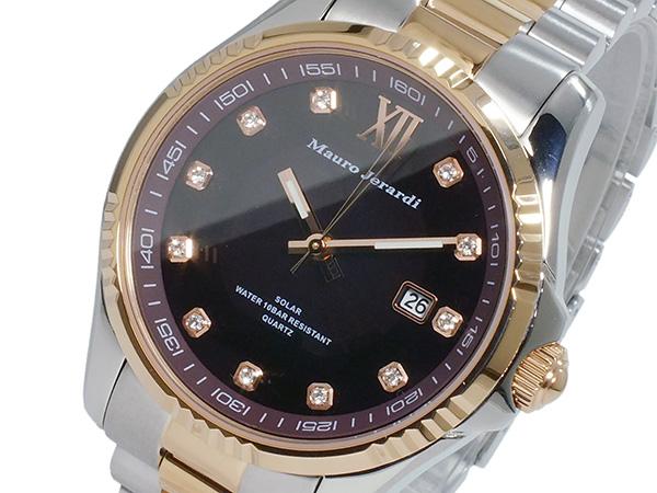 マウロ ジェラルディ MAURO JERARDI ソーラー メンズ 腕時計 時計 MJ037-1 チョコ