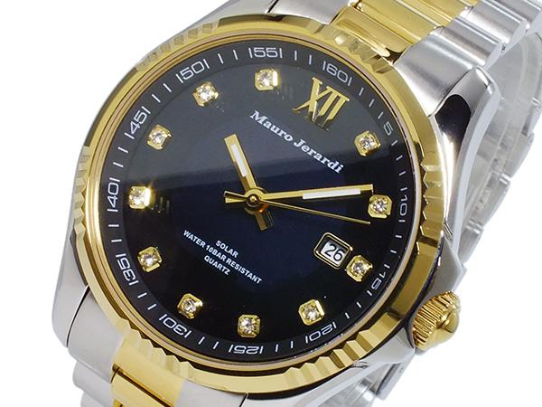マウロ ジェラルディ MAURO JERARDI ソーラー メンズ 腕時計 時計 MJ037-2 ブラック