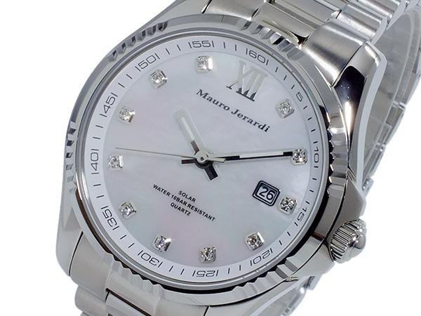 マウロ ジェラルディ MAURO JERARDI ソーラー メンズ 腕時計 時計 MJ037-3 ホワイト