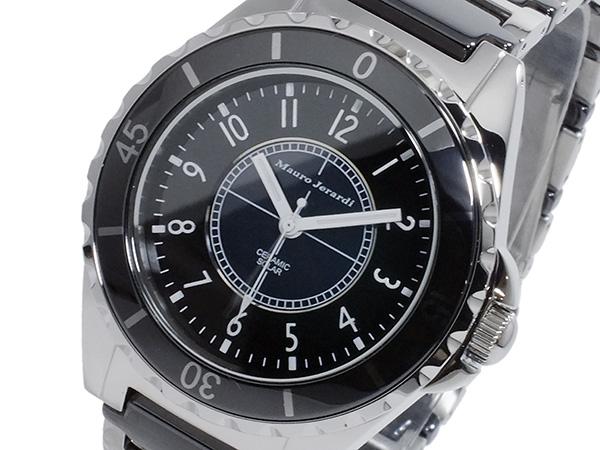 マウロ ジェラルディ MAURO JERARDI ソーラー メンズ 腕時計 時計 MJ041-1 ブラック