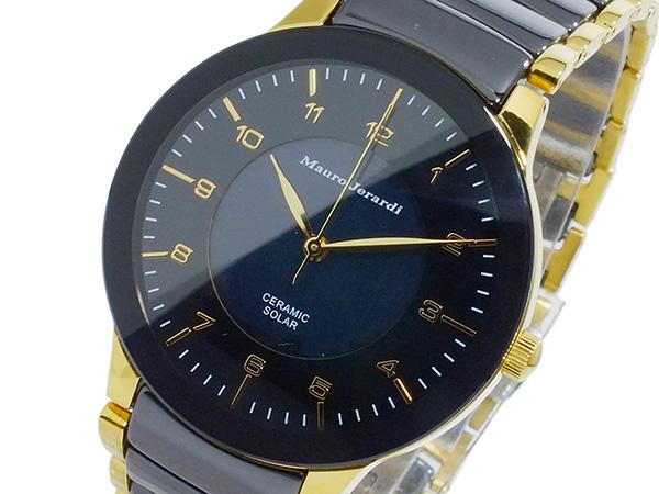 マウロ ジェラルディ MAURO JERARDI ソーラー メンズ 腕時計 時計 MJ043-1 ブラック