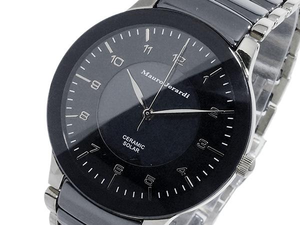 マウロ ジェラルディ MAURO JERARDI ソーラー メンズ 腕時計 時計 MJ043-2 ブラック
