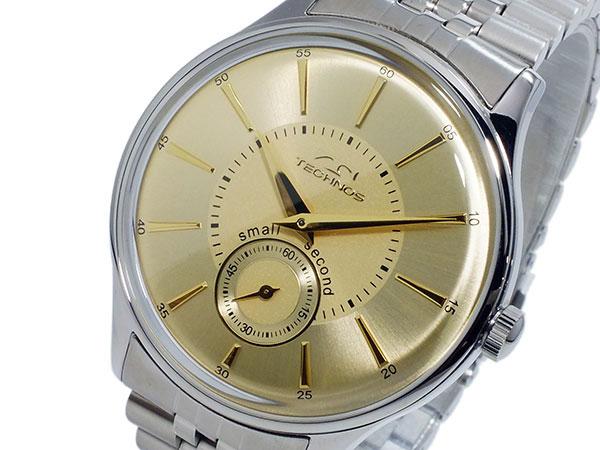 テクノス TECHNOS クオーツ メンズ 腕時計 時計 T6335SC ゴールド