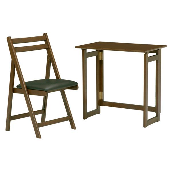 折りたたみテーブル MT-7680BR 4934257184366 ブラウン (代引き不可)