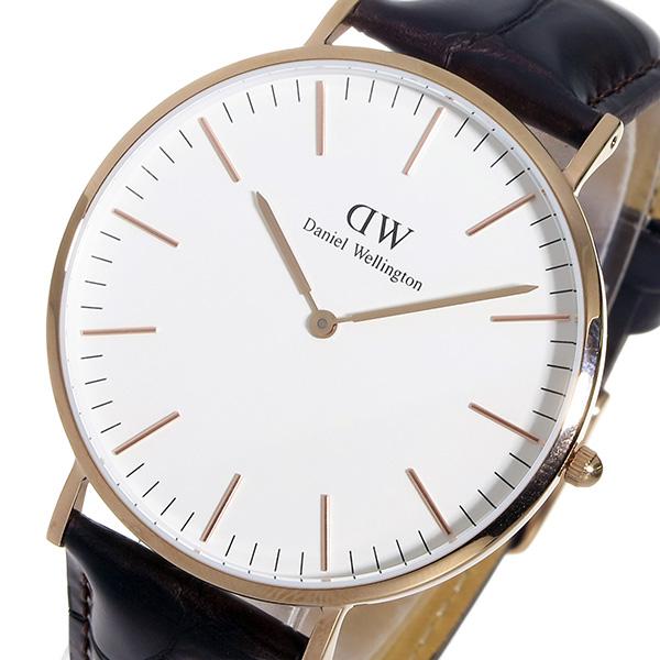 ダニエル ウェリントン ヨーク/ローズ 40mm クオーツ 腕時計 時計 0111DW
