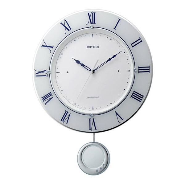 リズム RHYTHM 掛け時計 トライメテオ 電波時計 8MX402SR03 ホワイト