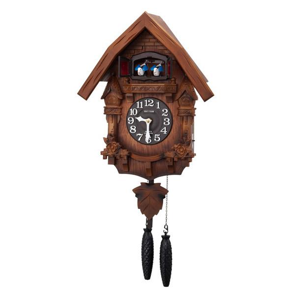 リズム RHYTHM 鳩時計 カッコーテレスR 4MJ236RH06 濃茶ボカシ木地仕上